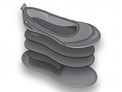 Elevated technical medical footware illustration