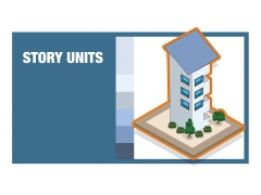 Apartment block units isometric detailed colourful vector icon illustration