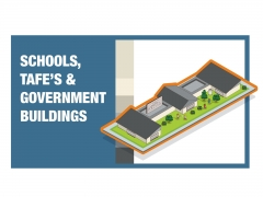 School isometric detailed colourful vector icon illustration
